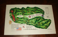 Vintage WINGED FOOT GOLF COURSE PRINT A.W.Tillinghast,U.S. Open BRAND NEW UNUSED