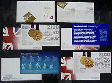 Los Juegos Olímpicos/Juegos Paralímpicos cinco diferentes sobres de primer día cubierta