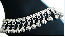 Indian Traditional Belly Dance Anklet with Jingling Bells Foot Jewelry Silver