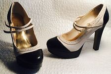 Women's Dress High Heel Designer Shoes Tan/Black sz 8.5 Lauren Conrad