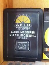 Lot 1set 15pcs ARTU Multi Purpose Drill Bit Size 3.0mm-10.0mm Drills