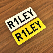 "9x3"" Personalised Front & Rear Plastic Number Name Plates Kids Electric Toy Car"