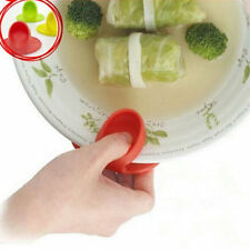 Kitchen Dishes Silicone Oven Heat Insulated Finger Glove Mitt Protector Hot CC