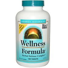 Wellness Formula Herbal Defence Complex - 180 Tablets by Source Naturals