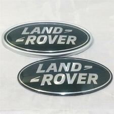 New OEM Land Rover Discovery Sport Green & Silver Oval Grill Boot Badge Set