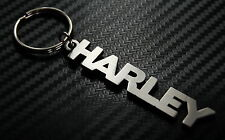 HARLEY Personalised Name Keyring Keychain Key Fob Bespoke Stainless Steel Gift