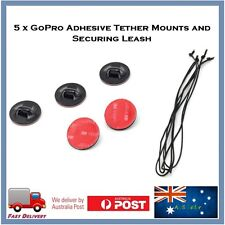 5 X GoPro Hero 5 Adhesive TETHER Mounts & Leashes Go Pro Contour Sony Action Cam