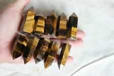 10 Natural Yellow Tiger Eye Quartz Crystal Points Polished Healing