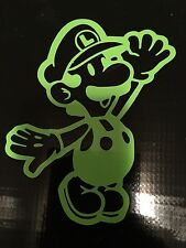 LUIGI MARIO DECAL STICKER VINYL WALL LAPTOP CAR 5""