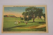 Country Club House from Golf Course, Roanoke VA Post Card V-515