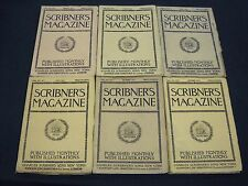 1893 SCRIBNER'S MAGAZINE LOT OF 6 ISSUES -NICE ADS & ILLUSTRATIONS - WR 542D
