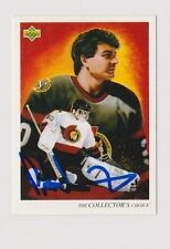 92/93 Upper Deck Peter Sidorkiewicz Ottawa Senators Autographed Hockey Art Card