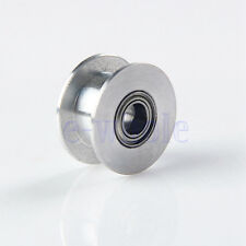 20T 5mm Bore 6mm Gt2 Belt Smooth Idler Pulley Aluminum Alloy For 3D Printer HM
