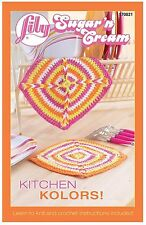 Lily Sugar 'n Cream  KITCHEN KOLORS Knit and Crochet Illustrated Patterns Book