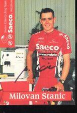 Milovan STANIC cyclisme cycling signée SAECO autographe Swiss Team tour suisse