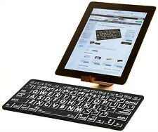 LogicKeyboard XL Print -White on Black Bluetooth Mini Keyboard-LKB-LPWB-BTON