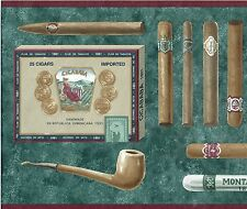 CIGARS CIGARILLOS TOBACCO PIPES CASES CUTTER AND BOXES  Wallpaper bordeR Wall