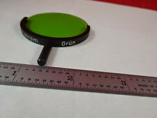 MICROSCOPE PART LEITZ GERMANY GREEN FILTER PANCHROM OPTICS AS IS #S4-A-01