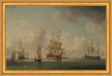English Ships Under Sail in a Very Light Breeze Brooking Segelschiffe B A3 01035