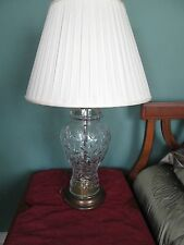 PAIR OF MID CENTURY LEAD CRYSTAL MATCHING LAMPS