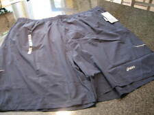 NWT - Mens ASICS Navy Lined Athletic Shorts (3XLT)