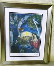 """Chagall """"Around Her"""" Rare Framed Lithograph,signed,limited edition w/certificate"""