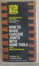 D67 - How To Make Carcase Joints With Hand Tools - VHS - 60 Minutes - 4 Lessons