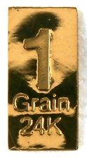 1GRAIN(NOT GRAM) 24K PURE GOLD .999 FINE BENCHMARK STRATEGIC METALS& CERT g31b