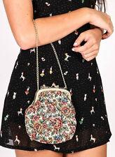 Vintage motif floral brodé/tapisserie sac de soirée par la regale