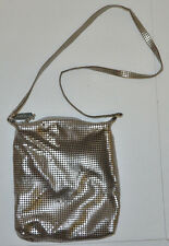 "Whiting & Davis Silver Mesh Purse Evening Bag Shoulder 7"" x 6"" Fits Cell Phone"