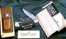 "Schrade LB5 Lockback ""Ivomec-F"" Original Leather Sheath & Packaging ,Care Papers"