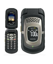 KYOCERA DURAMAX E4255 - c BLACK (SPRINT) RUGGED FLIP CELLULAR CELL PHONE