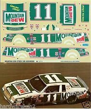 NASCAR DECAL #11 MOUNTAIN DEW 1982 BUICK REGAL DARRELL WALTRIP - MONOGRAM
