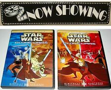 Star Wars The Clone Wars Volume 1 & 2 Animated Series 2005 2-Dvd Set