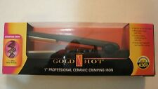 New Professional Gold N' Hot GH3001 Gold Tone Crimping Iron, 1 Inch