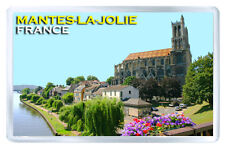 MANTES-LA-JOLIE FRANCE FRIDGE MAGNET SOUVENIR IMAN NEVERA