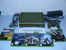 Microsoft Xbox 360 Halo 3 Special Edition Green Gold Console Collectors Bundle