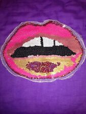 Sequin Lips Kiss embroidered lace applique motif patch costume
