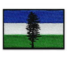 """CASCADIA FLAG IRON ON PATCH 3"""" Embroidered Applique Pacific Northwest OR WA BC"""