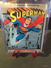 1985 SUPERMAN-COMIC FILE MAGAZINE-MAN OF STEEL COVER- COLLECTORS 30yrs AMAZING!!