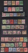 MALAYSIA STRAITS SETTLEMENTS 1890-1900s COLL OF 42 USED FEW MINT INC FEDERATE SG