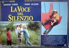 fotobusta '93 LA VOCE DEL SILENZIO-House Card-Kathleen Turner-Tommy Lee Jones-2