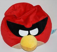 "ANGRY BIRDS Red Captain 18""  Microbead Foam Bead Masked Plush PILLOW 2012 Rovio"