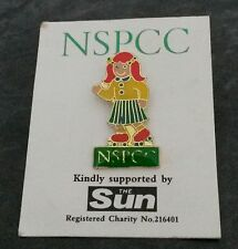 NSPCC - GIRL ☆ Metal / Enamel ☆  PIN ☆ BADGE ☆ child
