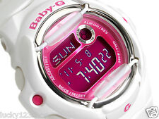 BG-169R-7D White Pink Digital Casio Baby-G Watches Lady Resin Band Full Packy