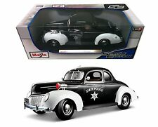 Maisto 1939 Ford Deluxe State Police 1:18 Diecast Car Maisto Special Edition