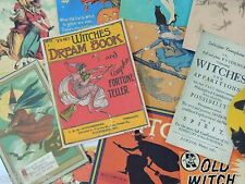 12 Pc. Lot VINTAGE HALLOWEEN WITCH Witches POST CARDS DIE CUTS for Crafts | H57