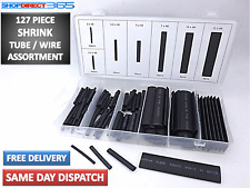127PC Black Heat Shrink Tube Assortment Wire Wrap Electrical Insulation 4-33