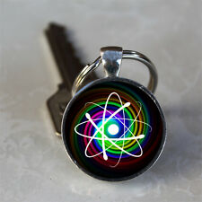 Glowing Atom Photo Handmade Glass Dome Keychain (GDKC0015)