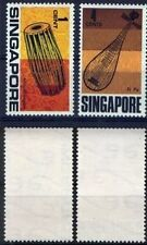 Singapore stamps - 1969 Musical Instruments definitives 1c , 4c Mounted mint
